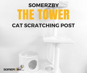 Tower Cat Scratching Post by Somerzby