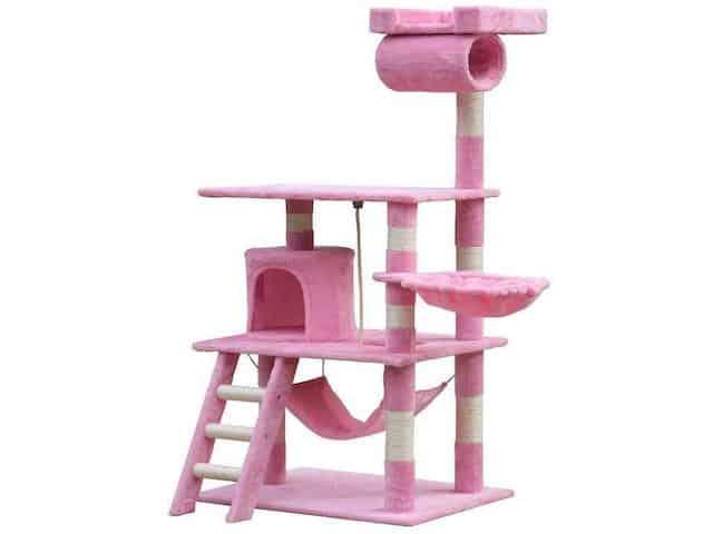 Pink Balmoral Cat Post