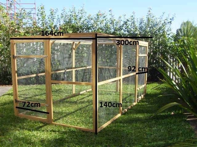 Catio enclosure and run dimensions