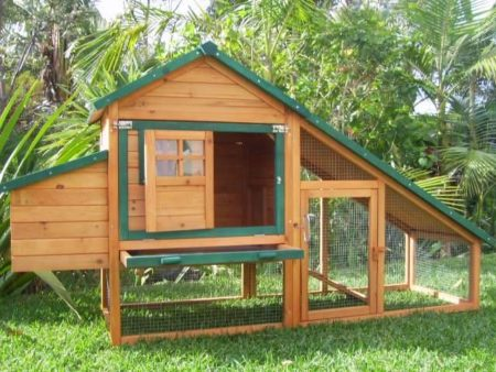 Chalet Guinea pig hutch side view