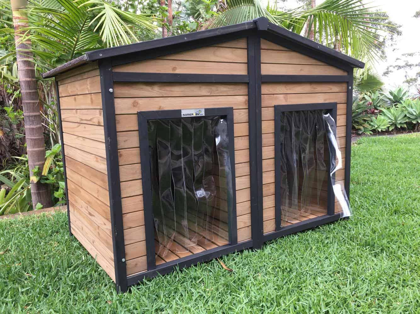 Extra, Extra Large Outdoor Dog Kennel with Double Doors