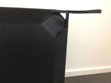 Dog trampoline bed cover and assembly