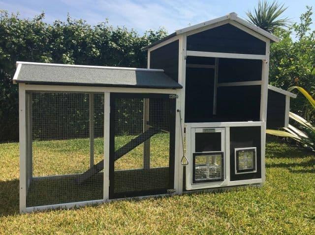 Mansion Guinea pig hutch open doors