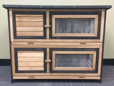 Somerzby Deluxe Double Rabbit Hutch
