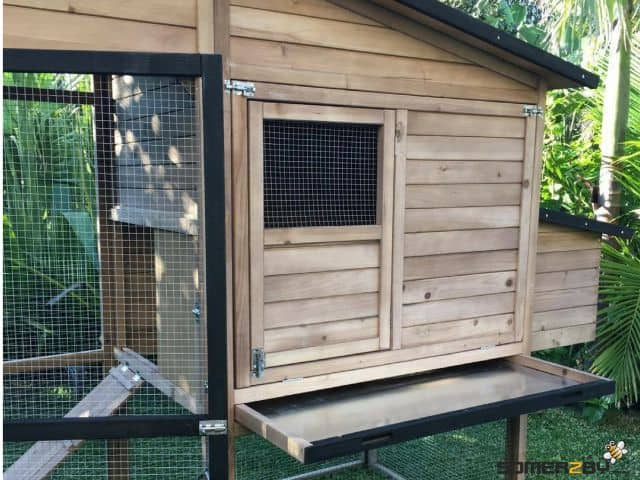 Somerzby Estate rabbit hutch rear view