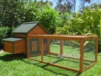 cottage outdoor indoor rabbit hutch run