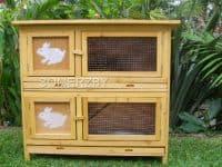 double indoor rabbit hutch