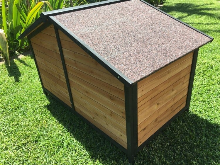 The Cubby Dog House is sturdy and easy to assemble