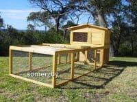 villa and run outdoor indoor rabbit hutch