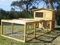 villa rabbit hutch and run package