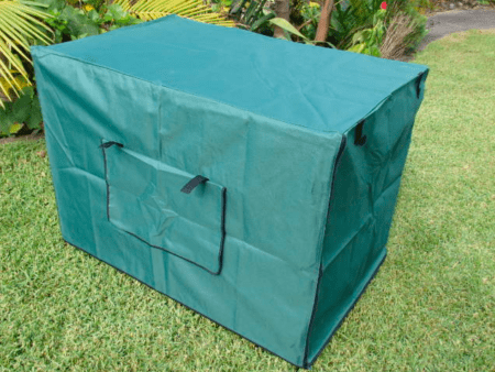 Green Dog Crate Cover