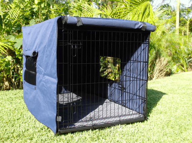 Blue Dog crate cover