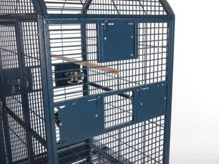 blue bird cage