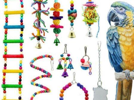 10 x Free Hanging Bird Toys